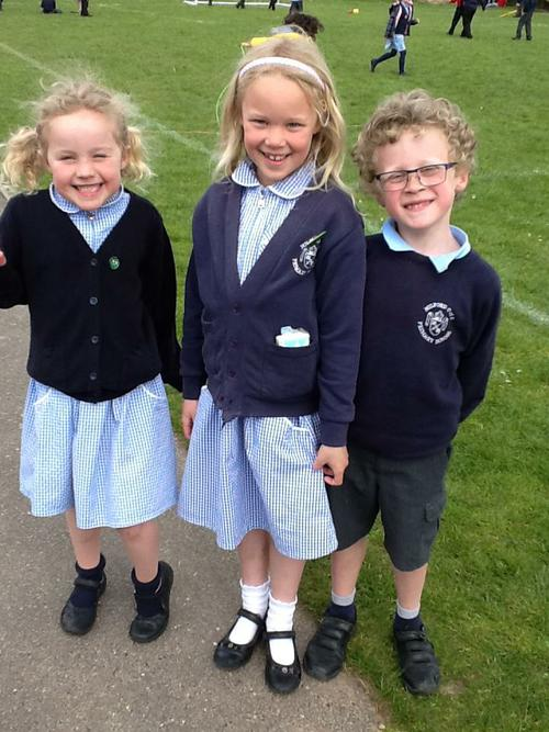 Ewan, Ruby and Jemima from Class 4