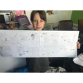 Frances with her amazing Space Timeline.