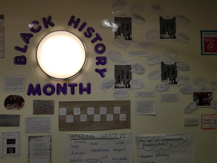 KS2 studied Black History Month.