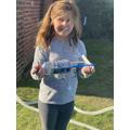 Kayla's self-propelled boat