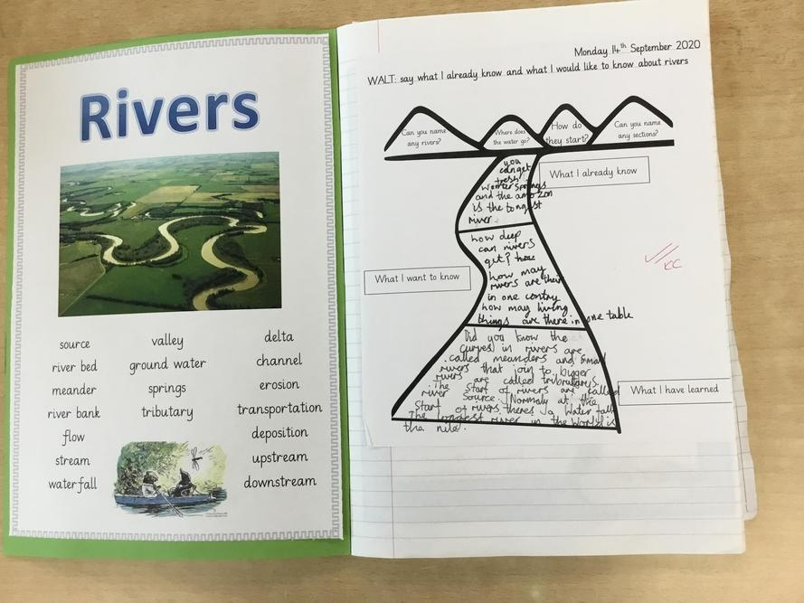 Year 3/4 have also found out whether all rivers are the same
