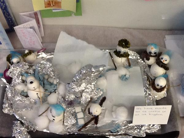We have been creating an arctic scene.
