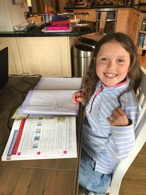Evie's Home Learning - Fraction & Decimals