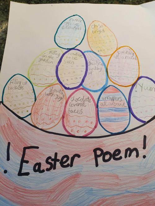 Kaylas' eggs-ellent Easter poem