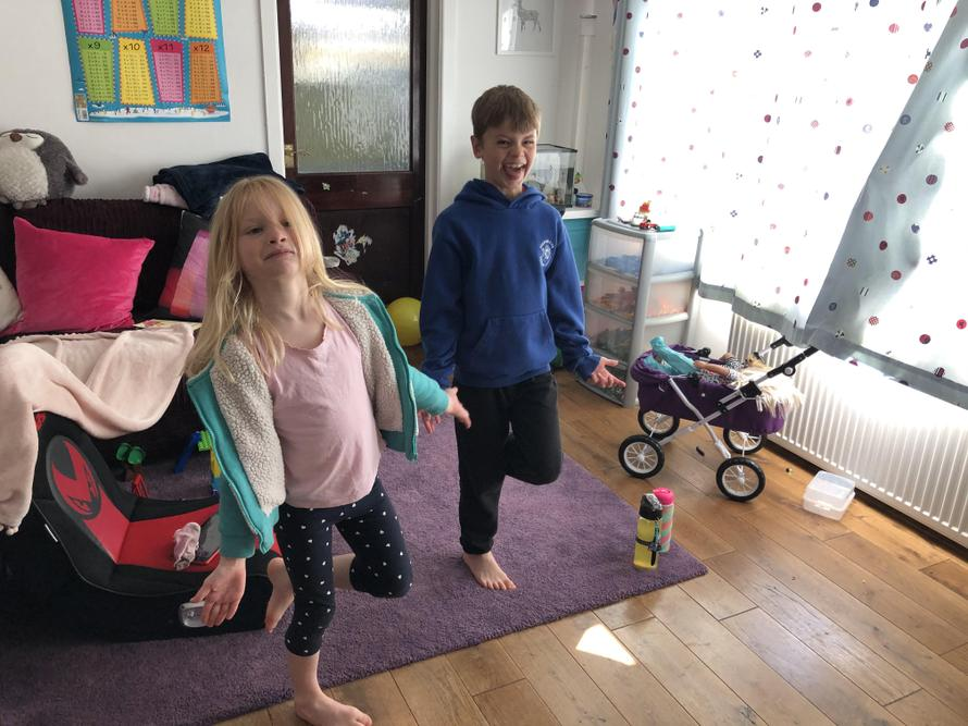 Hamish & Ivy getting active at home