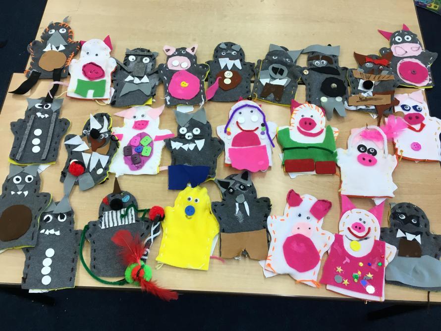 Class 3's Puppets