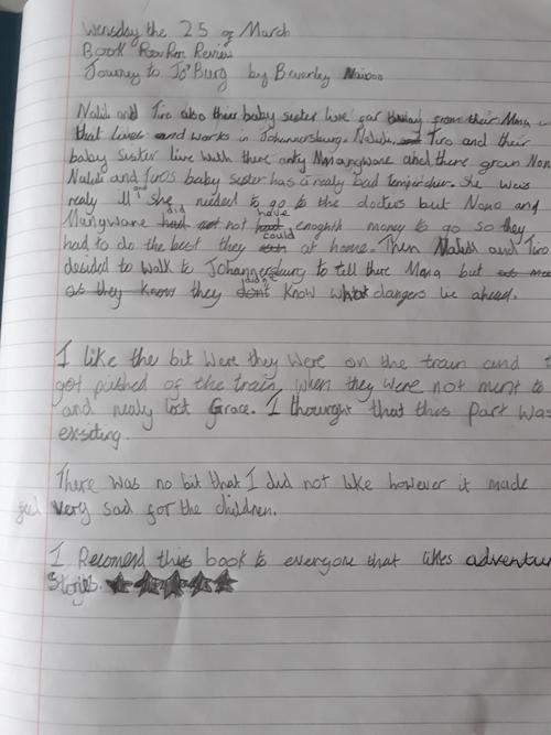 Ella's Book Review of Journey to Jo'burg