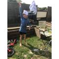 Frances's parachute experiment 3