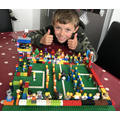 Joe's brilliant Lego football model.