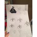 Minnie's ocean art project 3