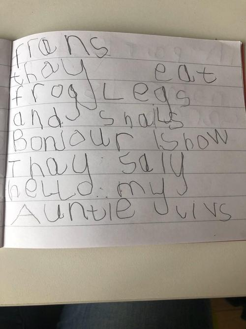 Super writing about frog's legs Luke!
