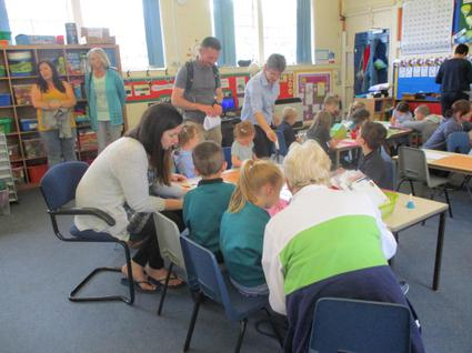 Parent's open afternoon. Parent joined in activities based around the theme of online safety 7