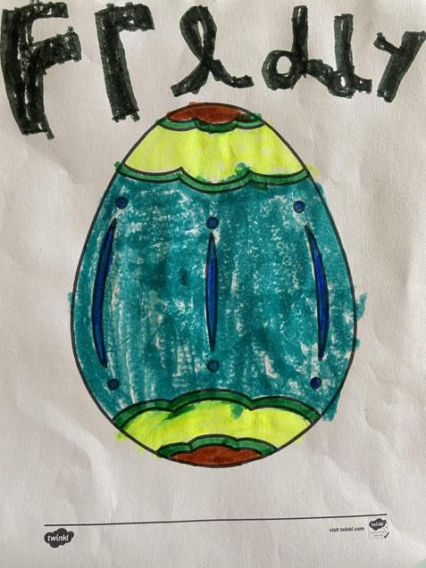 Freddy's lovely decorated egg picture