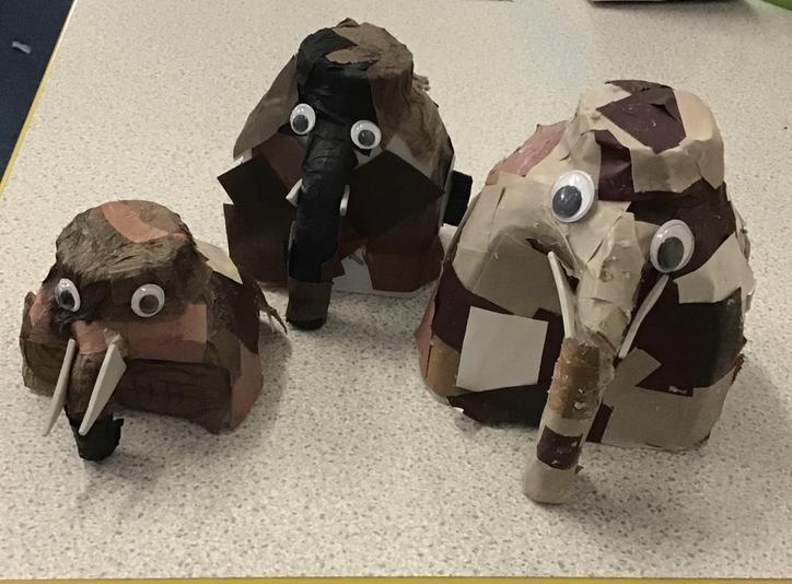 Some of our woolly mammoths created in D.T