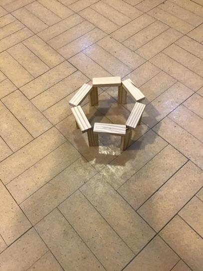 A model of Stonehenge using Jenga blocks