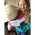 A spherical globe - can you find Waterlooville?