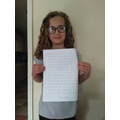 Thank you for your brilliant letter, Scarlett!
