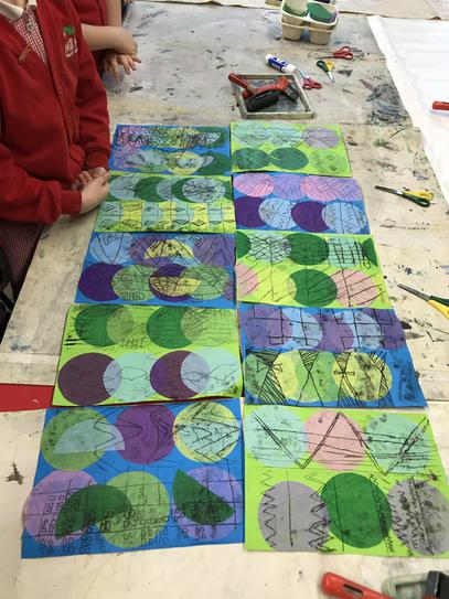 Each piece includes a repeating pattern.