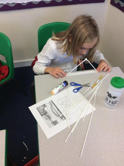 We designed bridges after looking at some examples.