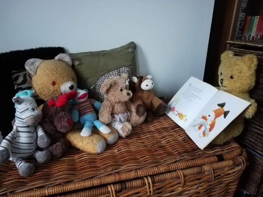 Little Teds favourite story is Kippers Toybox.