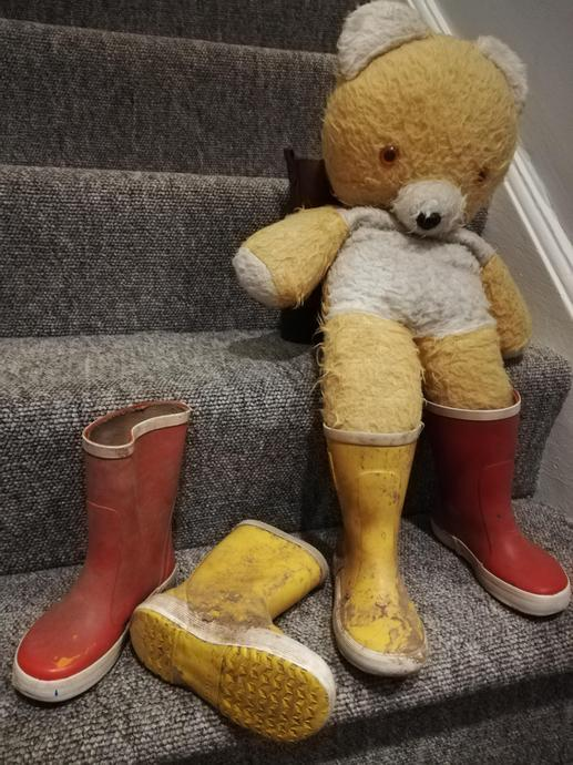 Oh no Big Ted there is something wrong with your boots.