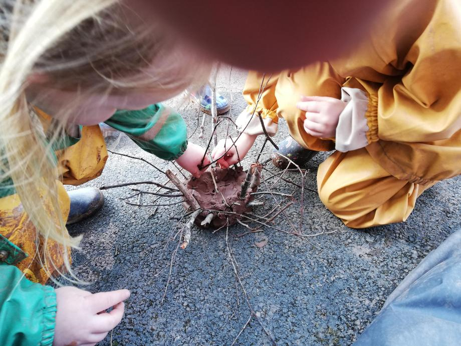We gathered natural resources from our local environment