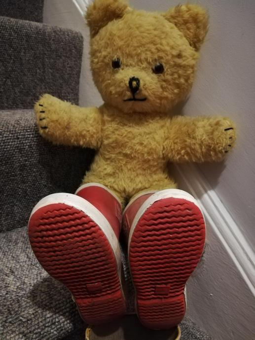 Little Ted there is a problem with your boots to.