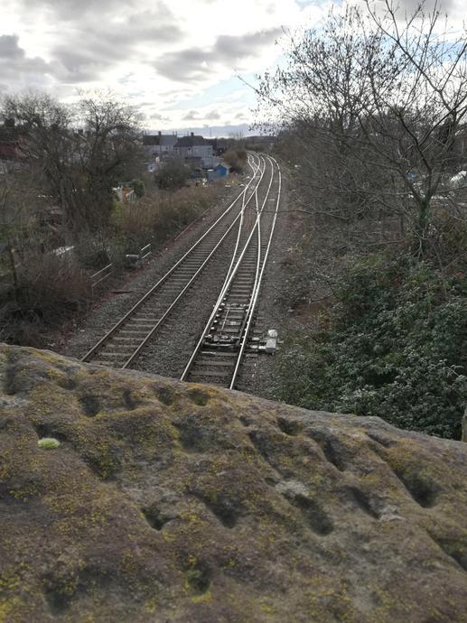 Over the railway bridge