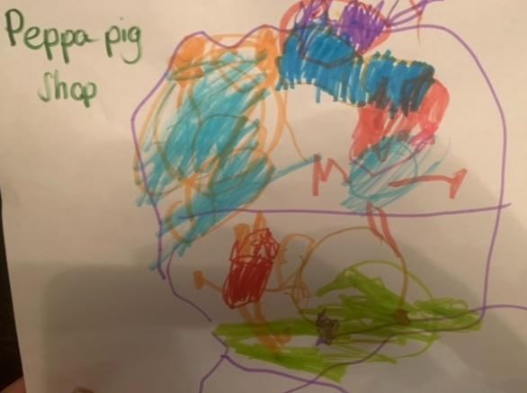 What an amazing drawing of Peppa Pigs shop 😊
