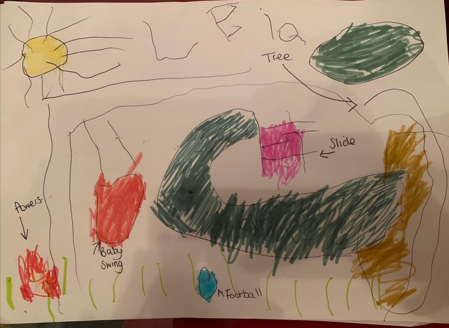 Look at this fantastic drawing of the park.😊😊