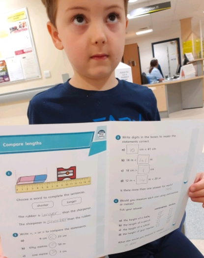 Y2 - not even a hospital visit stops home learning