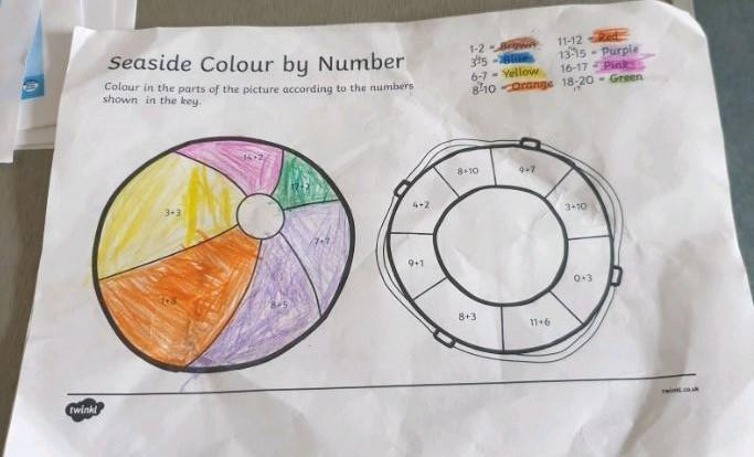 Y1 Abbiegail sor super colour by numbers