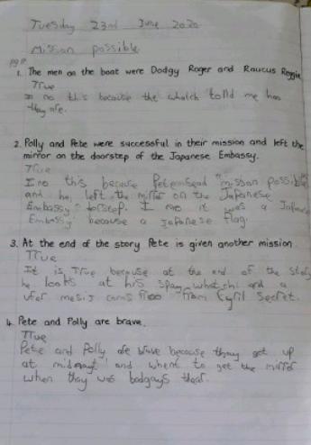 Y4- Cameron for good reading comprehension