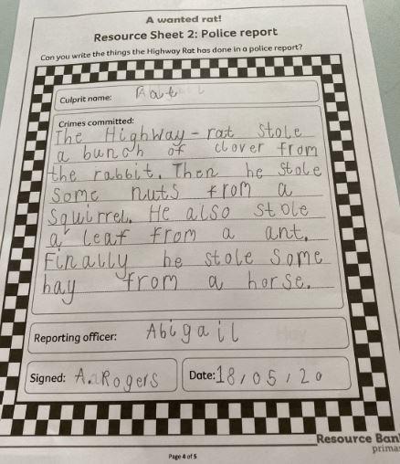Y2 Abigail - for en excellent police report