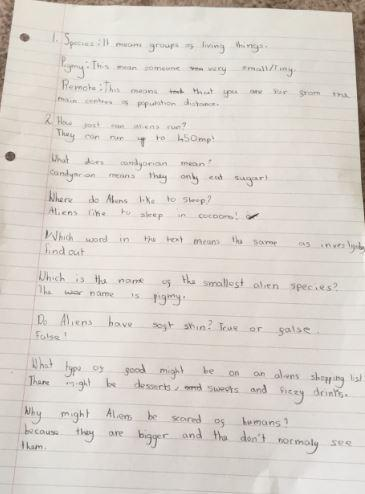 Y4 Isabella for beautifully presented English work