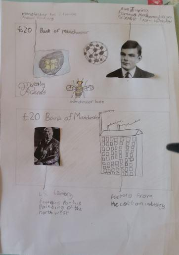 Y6 - Lewis for his design for Manchester currency