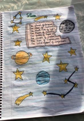 Y6 - Lexi for brilliant illustrated poem