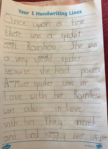 Y1 Agatha for excellent writing about a spider