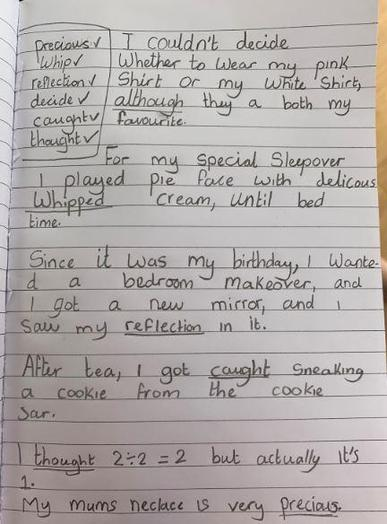 Y4 - Amy for a super job in English