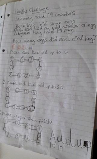 Y2 - Cameron for maths challenge problems