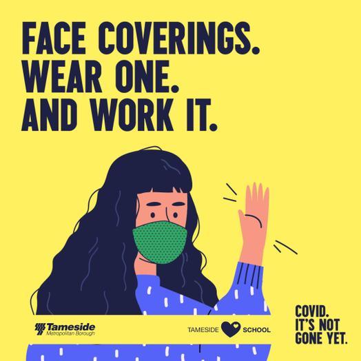 Please wear a face covering on school premises.