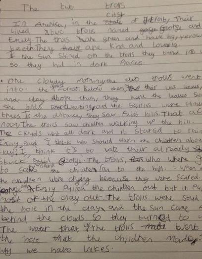 Y3 Katie-for persevering and writing a super story