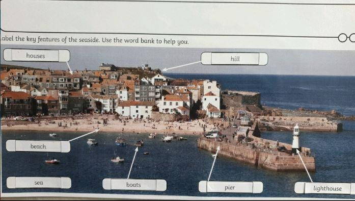 Y1 Lacie for labelling a seaside town- geography