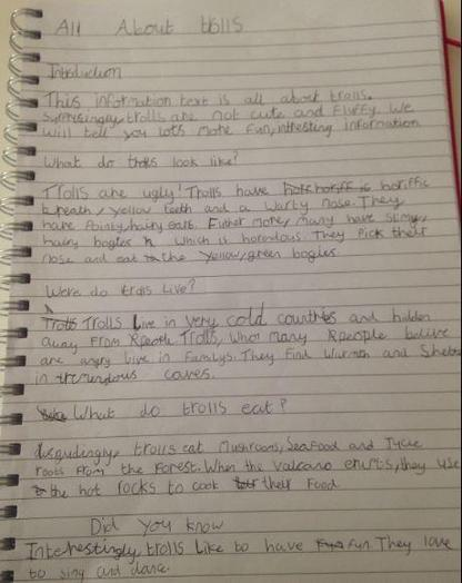 Y3 - Katie for a fantastic information text