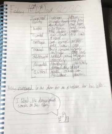 Y5 - Evie for good English vocab work