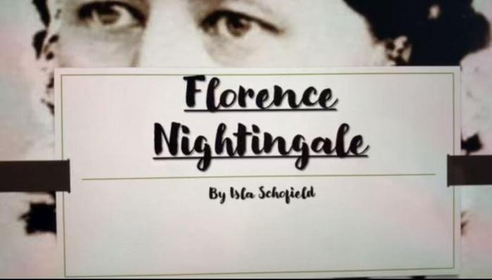 Y5-Isla - hard work on Florence Nightingale ppt