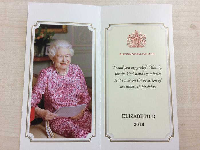 So today we recieved a letter from the Queen!