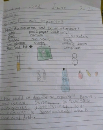 Y1- Libby for super work on explorers