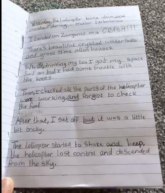 Y4 -Amy for excellent English work & vocabulary