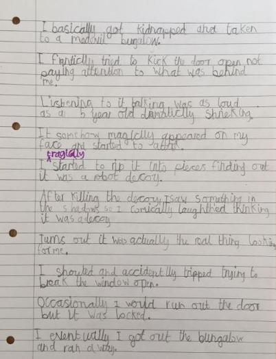 Y3-Archer-putting his spellings in great sentences